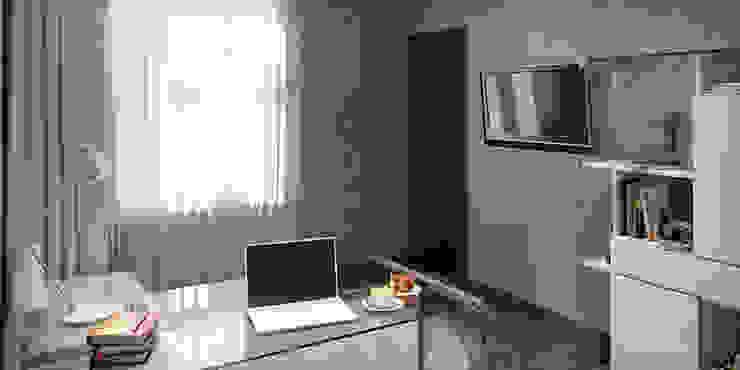 #1 Minimalistyczne domowe biuro i gabinet od ARCHE VISTA Minimalistyczny