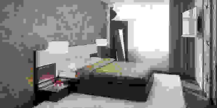 #1 Minimalistyczna sypialnia od ARCHE VISTA Minimalistyczny