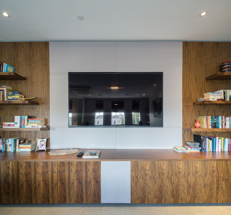 St. Mary Abbots Modern media room by Coupdeville Modern