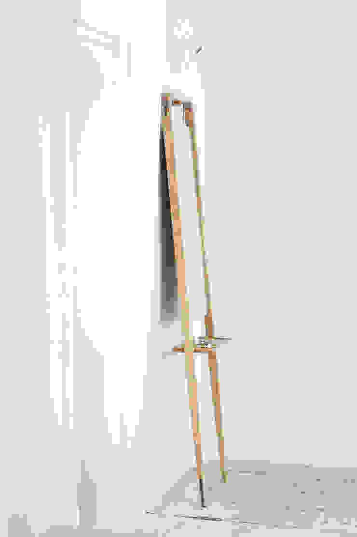 M2 Lustro od Loft Kolasiński Skandynawski Lite drewno Wielokolorowy