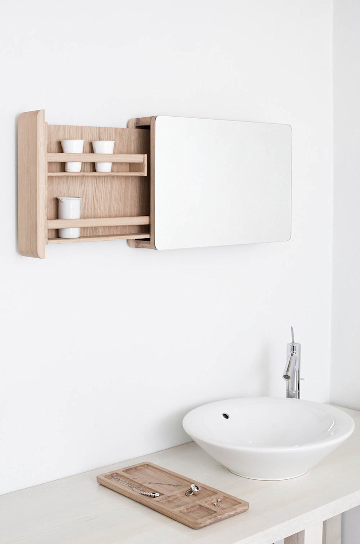 MB1 Szafka łazienkowa od Loft Kolasiński Skandynawski Lite drewno Wielokolorowy
