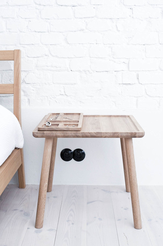 T2 Stolik od Loft Kolasiński Skandynawski Lite drewno Wielokolorowy