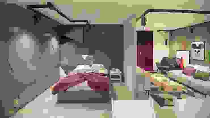 Industrial style bedroom by STUDIO 52 Industrial