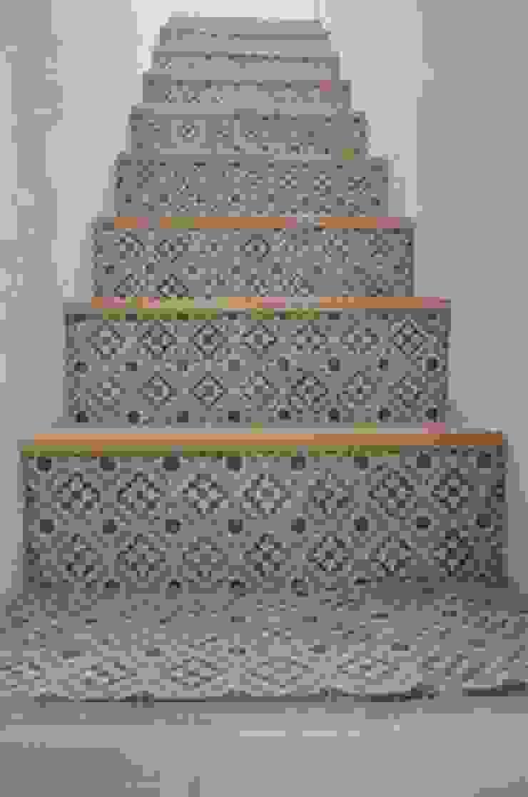 Den Ouden Tegel Mediterraner Flur, Diele & Treppenhaus Fliesen