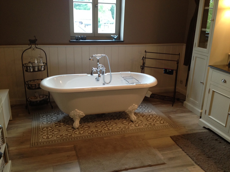 Wiejska łazienka od Den Ouden Tegel Wiejski Płytki