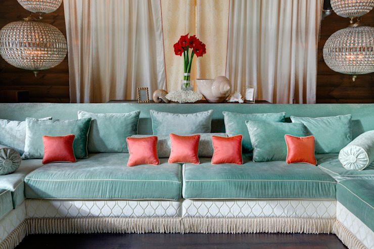 Rustic style living room by Ольга Куликовская-Эшби Rustic