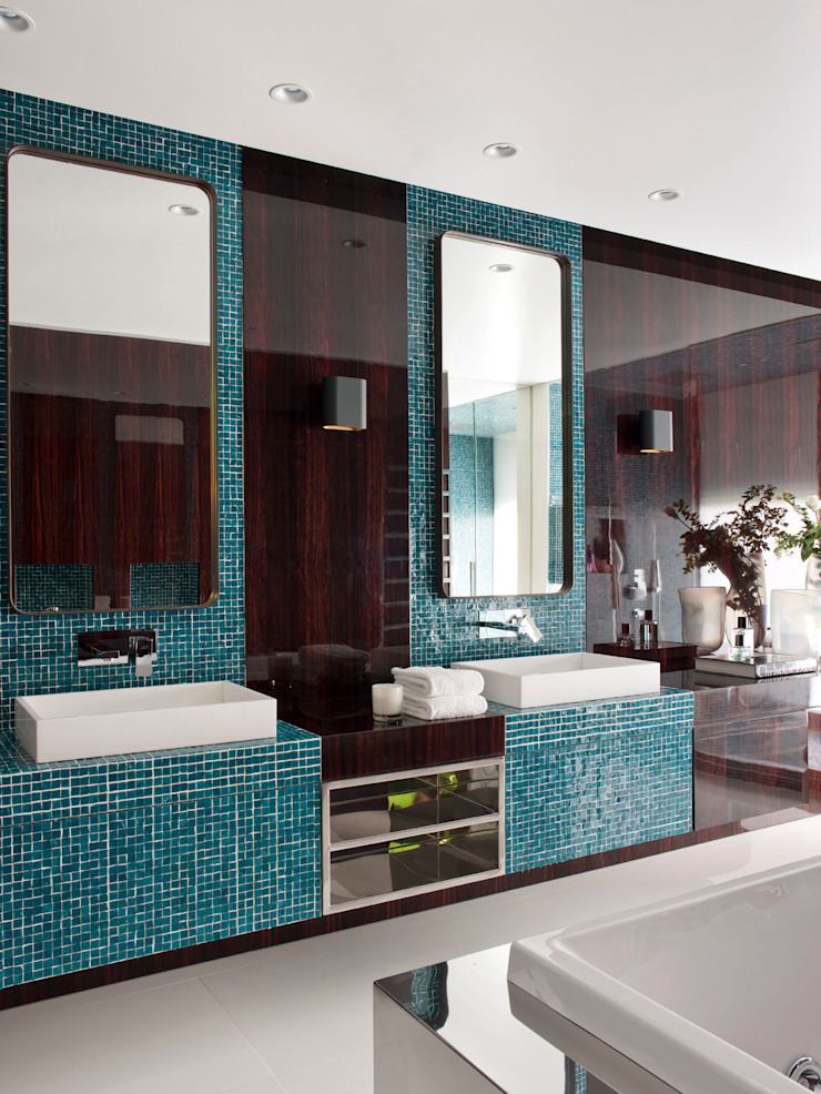 現代浴室設計點子、靈感&圖片 根據 SA&V - SAARANHA&VASCONCELOS 現代風