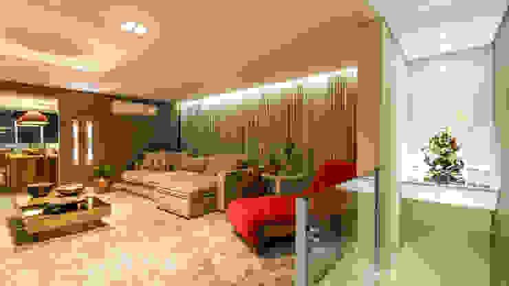 Sala Home Theater Salas de estar modernas por Flaviane Pereira Moderno Derivados de madeira Transparente