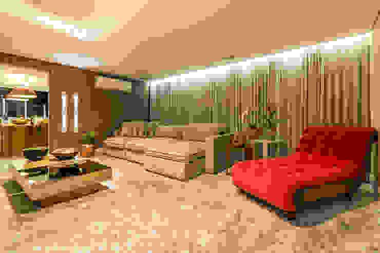 Sala Home Theater Salas de estar modernas por Flaviane Pereira Moderno Cobre/Bronze/Latão