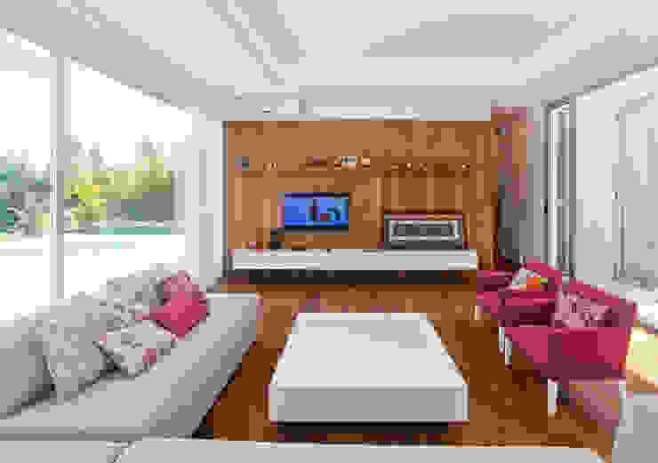 Salon de style  par VISMARACORSI ARQUITECTOS, Moderne