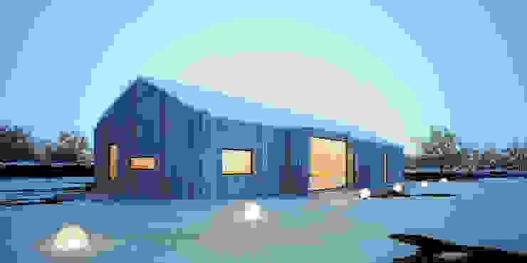 Casas de estilo  por Majchrzak Pracownia Projektowa,