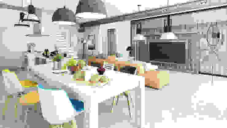 Modern Oturma Odası Majchrzak Pracownia Projektowa Modern