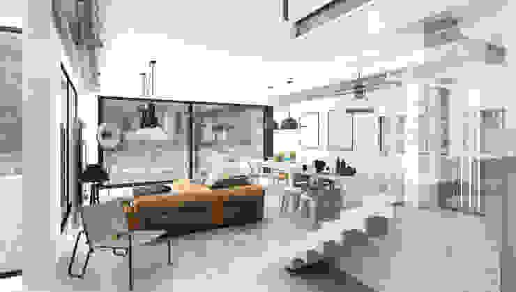 Ruang Keluarga Modern Oleh Majchrzak Pracownia Projektowa Modern