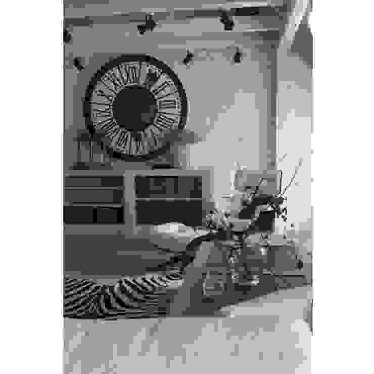 DOM 2: styl , w kategorii Salon zaprojektowany przez 2kul INTERIOR DESIGN,Eklektyczny Skóra Szary