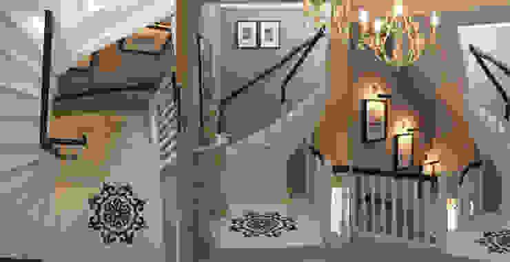 DOM 2 Eklektyczny korytarz, przedpokój i schody od 2kul INTERIOR DESIGN Eklektyczny Drewno O efekcie drewna