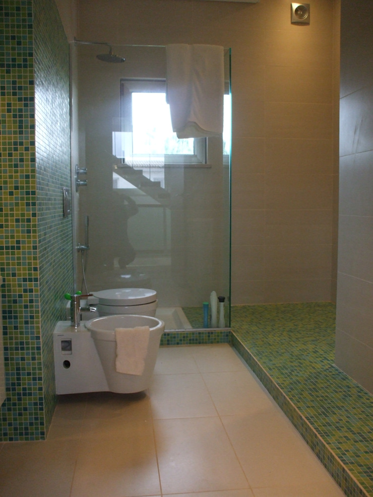 Moradia de férias M+PR Casas de banho modernas por Space Invaders _ Arquitectura e Design Moderno