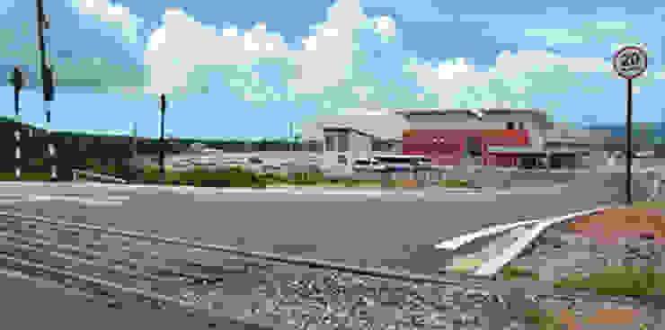 CIA SULAMERICANA DE CERÂMICA Espaços comerciais industriais por Aurion Arquitetura e Consultoria Ltda Industrial
