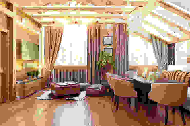 Гостиная Гостиная в стиле лофт от Дизайн студия Жанны Ращупкиной Лофт Дерево Эффект древесины