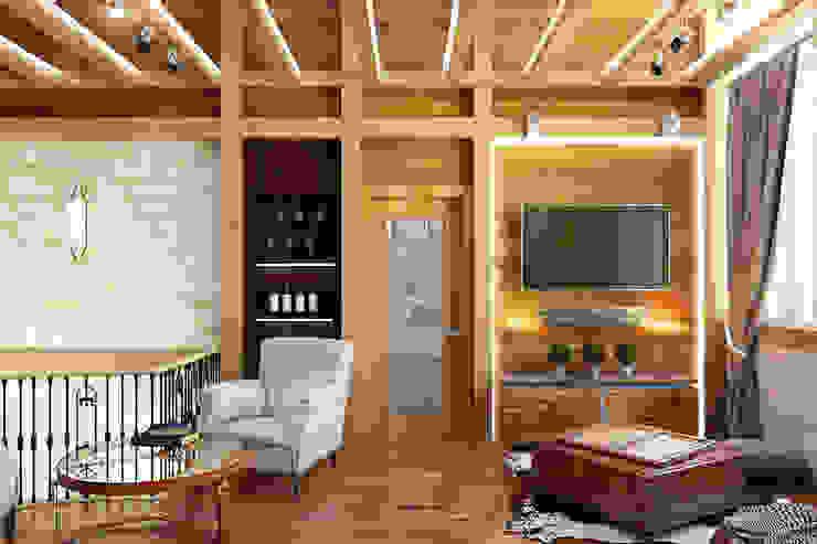 Гостиная Гостиная в стиле лофт от Дизайн студия Жанны Ращупкиной Лофт