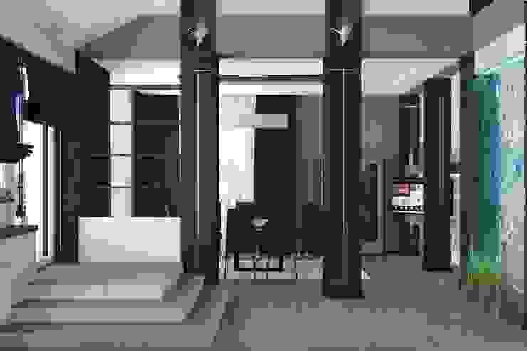 Salones de estilo minimalista de Дизайн студия Жанны Ращупкиной Minimalista