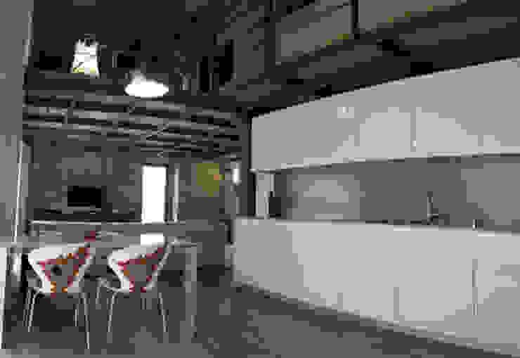 Loft Minimal Sala da pranzo moderna di Alma Moderno