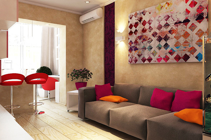 Modern Living Room by Дизайн студия Жанны Ращупкиной Modern
