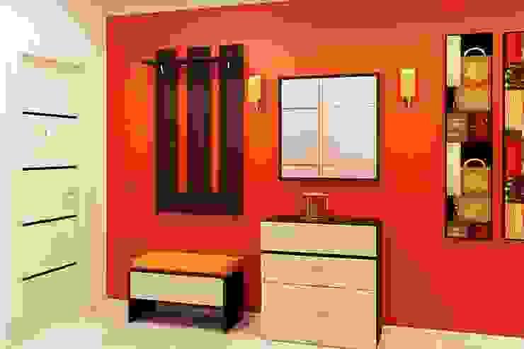 Прихожая Дизайн студия Жанны Ращупкиной Коридор, прихожая и лестница в модерн стиле