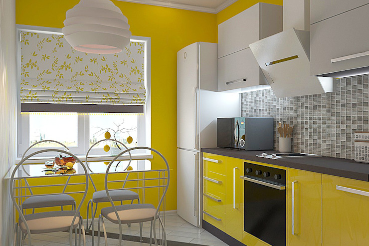 Дизайн студия Жанны Ращупкиной Dapur Modern Yellow