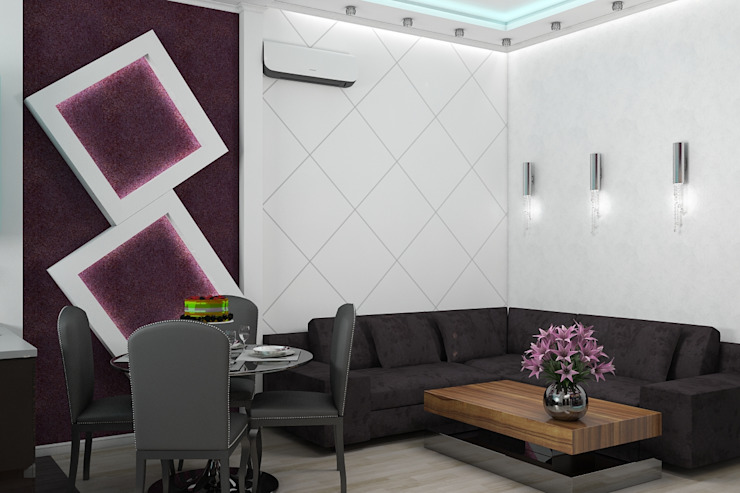 Minimalist living room by Дизайн студия Жанны Ращупкиной Minimalist