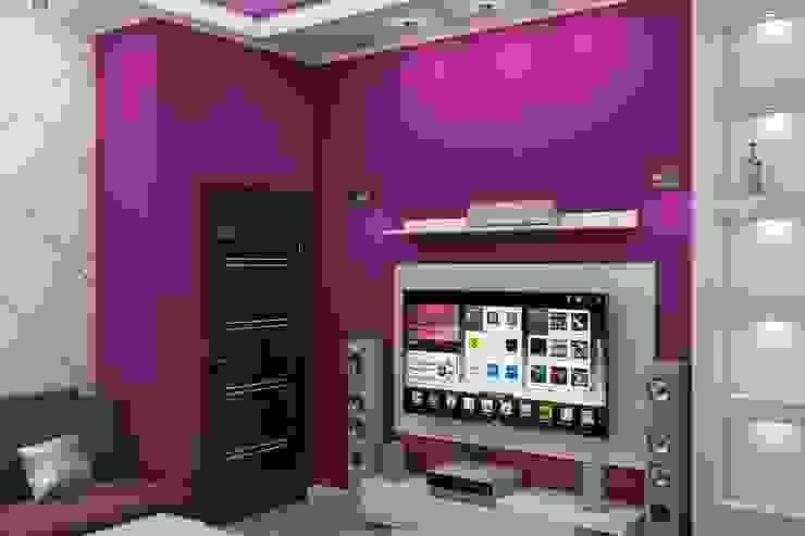 Комната отдыха Медиа комната в стиле минимализм от Дизайн студия Жанны Ращупкиной Минимализм