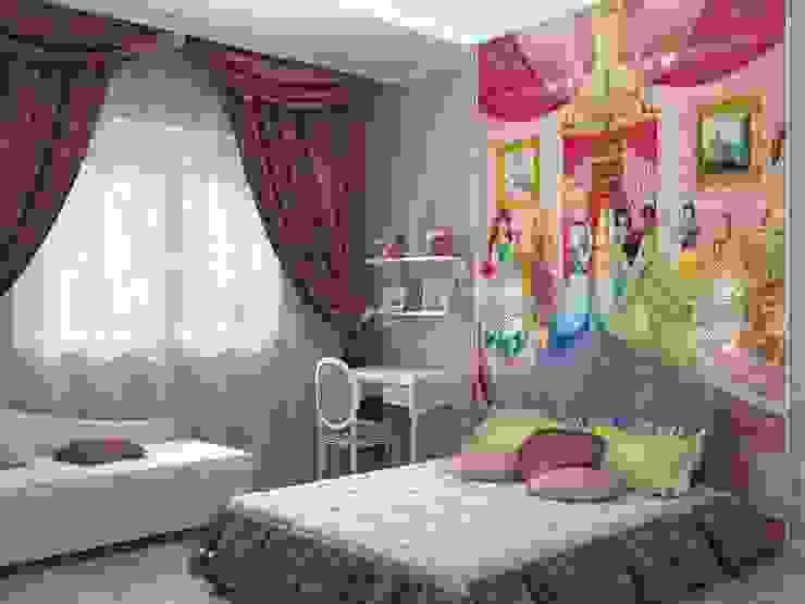 Детская для девочки Детская комната в стиле модерн от Дизайн студия Жанны Ращупкиной Модерн