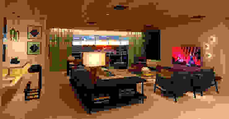residência LC Salas de estar modernas por Studio Marcio Michaluá Moderno