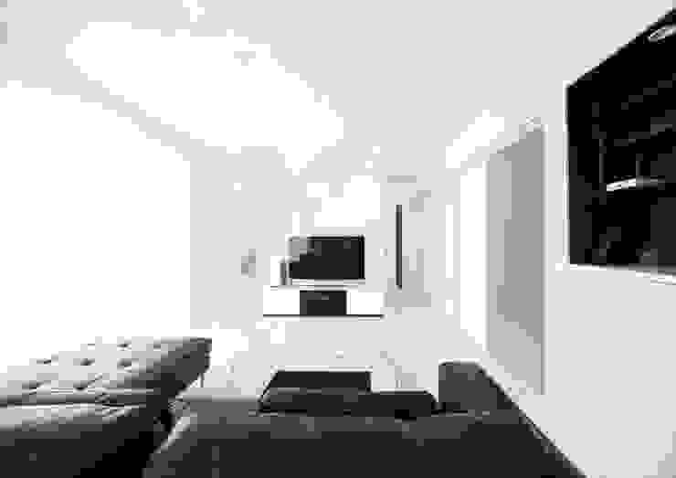 ナイトウタカシ建築設計事務所 Modern living room White