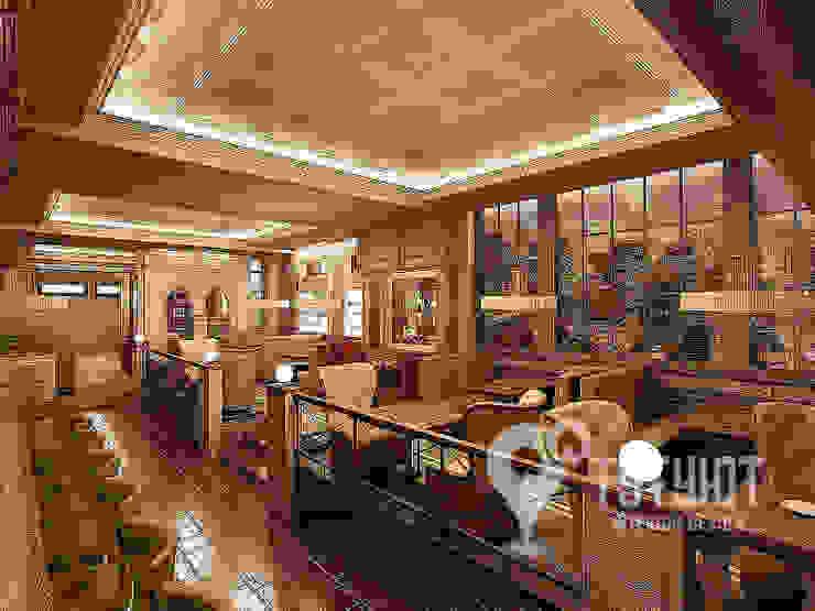 Культовое американское кафе PAN AMERICAN 8500 Бары и клубы в эклектичном стиле от Interior Design Studio Tut Yut Эклектичный