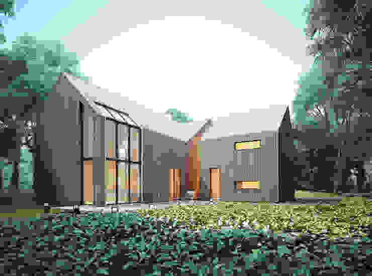 Casas estilo moderno: ideas, arquitectura e imágenes de Majchrzak Pracownia Projektowa Moderno
