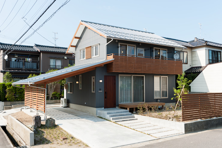 Casas de estilo  de 株式会社山口工務店, Moderno