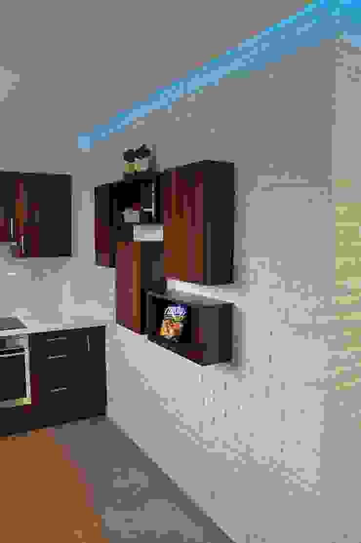 Mieszkanie 55m2 na Osiedlu pod Wierzbami w Dąbrowie Górniczej Nowoczesna kuchnia od Ale design Grzegorz Grzywacz Nowoczesny