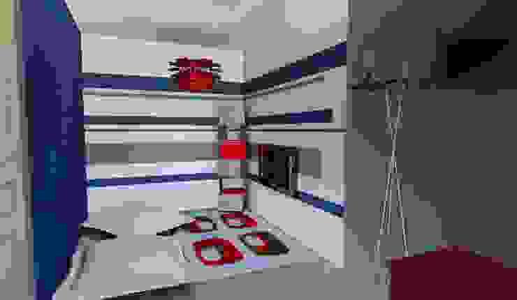 T3 70 m² Salle multimédia moderne par Agence 3Dimensions Moderne