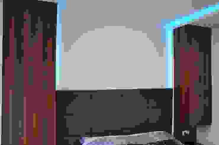 Mieszkanie 55m2 na Osiedlu pod Wierzbami w Dąbrowie Górniczej Nowoczesna sypialnia od Ale design Grzegorz Grzywacz Nowoczesny