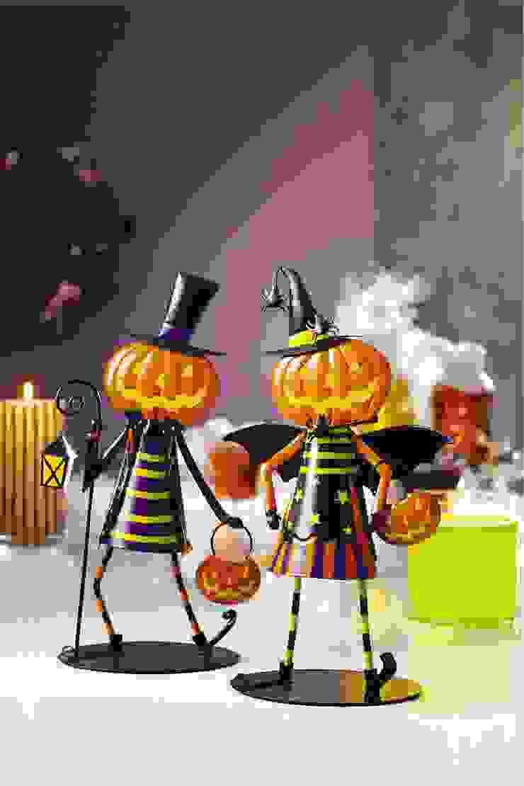 Jack & Jill Dancing Pumpkin Votive Holders PartyLite SalasAccesorios y decoración
