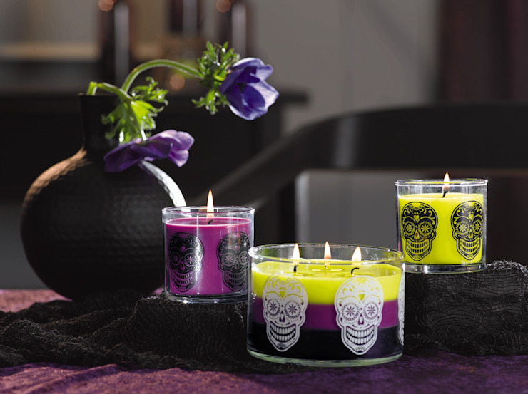 Skeleton Hocus Pocus scented jar candles de PartyLite Moderno