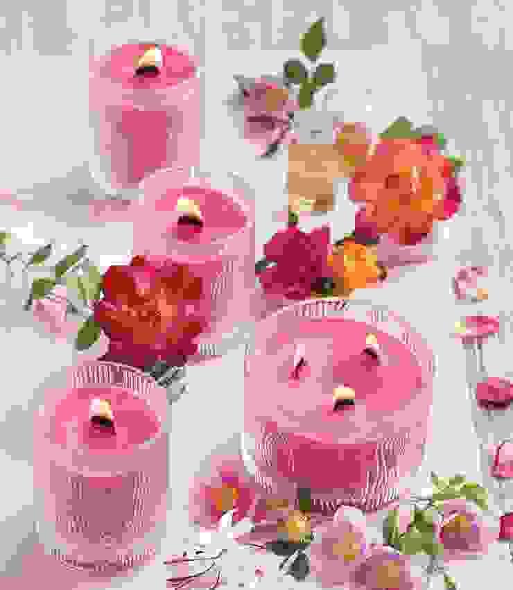 Romantic & Rosy frosted Jar candle PartyLite HogarAccesorios y decoración Rosa