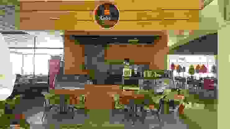 Kahve Terası Merve Demirel Interiors Modern Ahşap-Plastik Kompozit