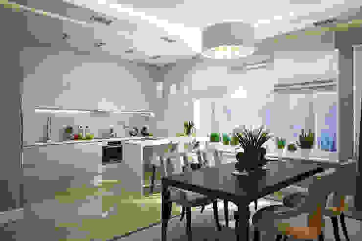 Таунхаус в г.Краснодар Design Studio Details Кухни в эклектичном стиле