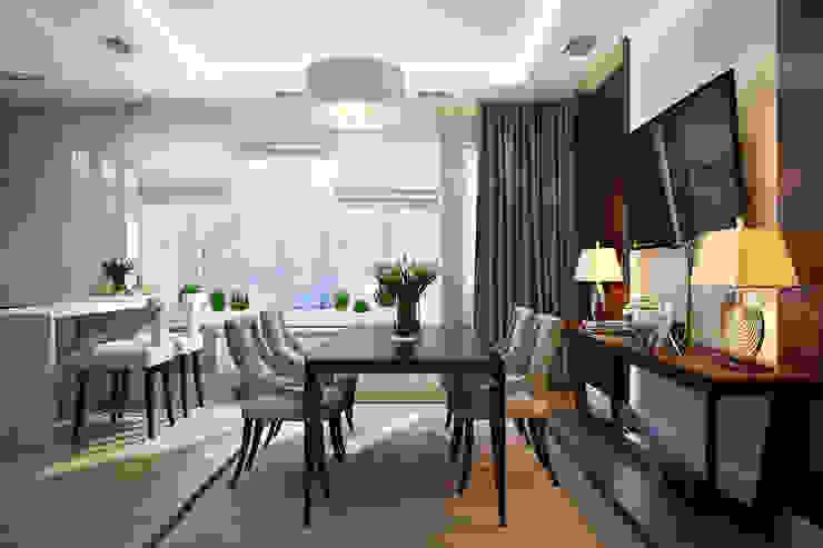 Таунхаус в г.Краснодар Design Studio Details Столовая комната в эклектичном стиле