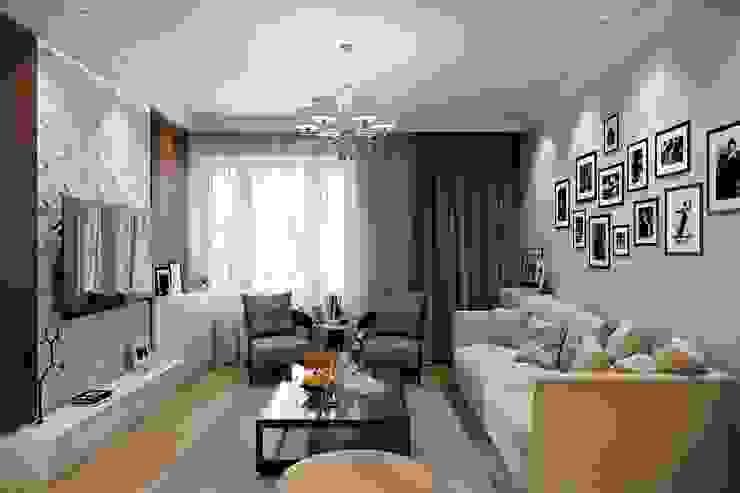 Таунхаус в г.Краснодар Design Studio Details Гостиные в эклектичном стиле