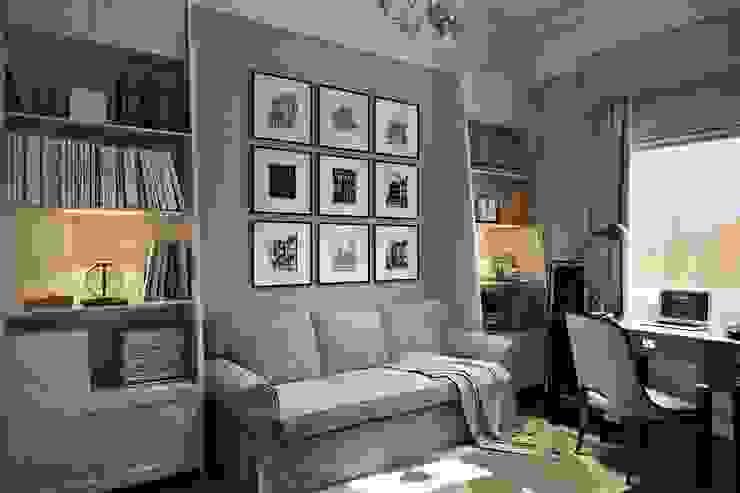 Таунхаус в г.Краснодар Design Studio Details Рабочий кабинет в эклектичном стиле