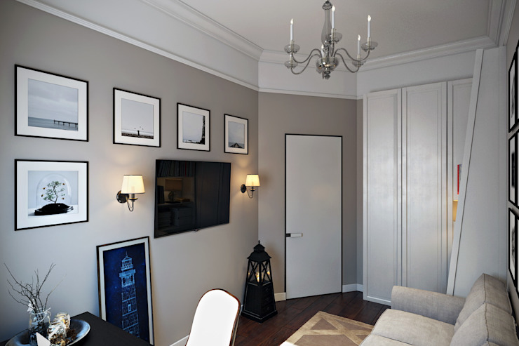 Design Studio Details Eklektyczne domowe biuro i gabinet