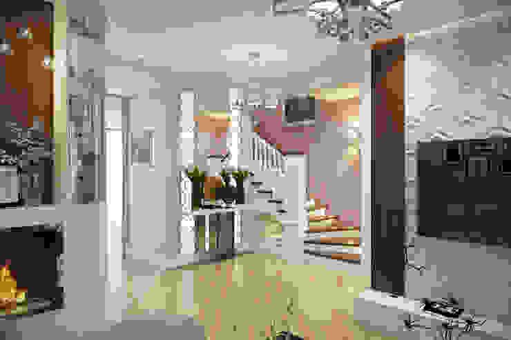Таунхаус в г.Краснодар Design Studio Details Коридор, прихожая и лестница в эклектичном стиле