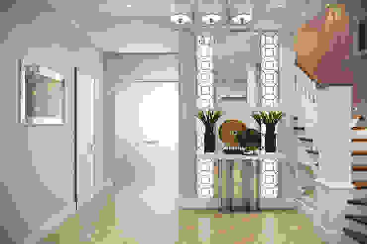 Design Studio Details Eklektyczny korytarz, przedpokój i schody